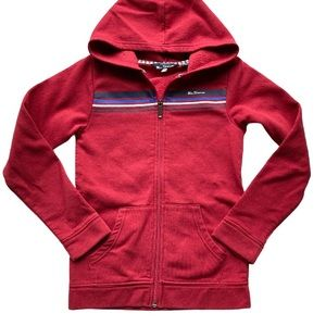 Ben Sherman Red Hoodie Jacket Full Zip 10-11